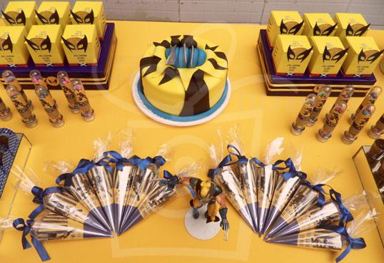 decoracao festa wolverine : decoracao festa wolverine:caixinha wolverine cone wolverine decoração personalizada wolverine
